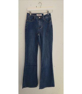 Jeans flared denim stretch, Blue