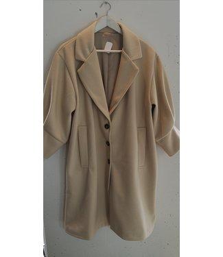 Coat wool half sleeves, Cream