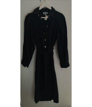 Dress denim maxi button, Black