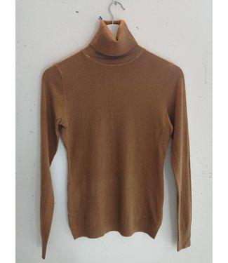 Longsleeve col, Orange brown