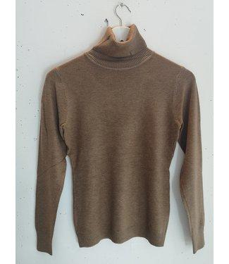 Longsleeve col, Light brown
