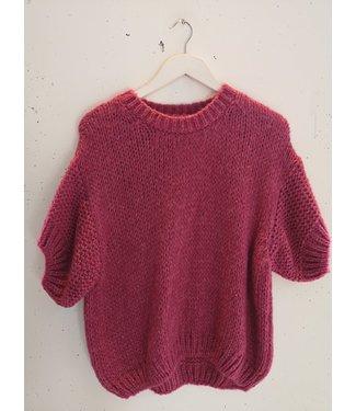 Sweater tee knitted, Fuchsia