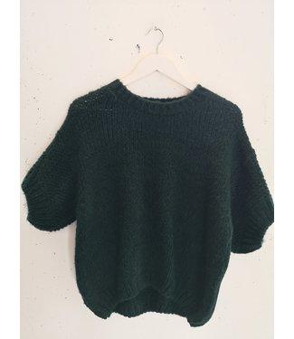 Sweater tee knitted, Bottle green