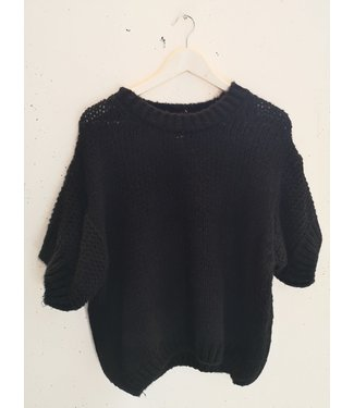 Sweater tee knitted, Black