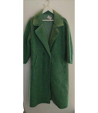 Coat wool long, Green