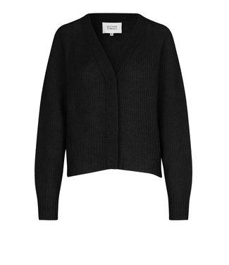 Second female Cardigan Brooky knit boxy, Black