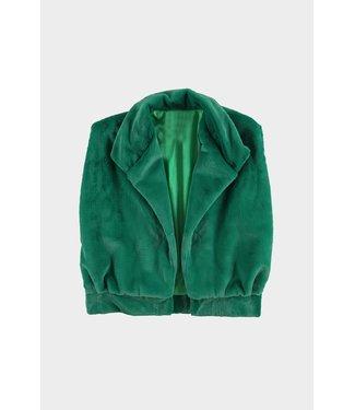 Bodywarmer fluffy, Green