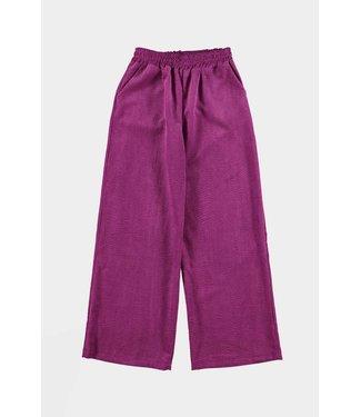 Pants corderoy elastic band, Purple
