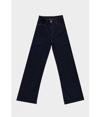 Jeans denim wide leg, Dark blue