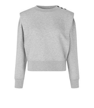 Second female Sweater Priscilla, Grey melange