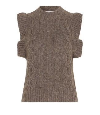 Second female Spencer Gunhild knit vest, Dessert palm