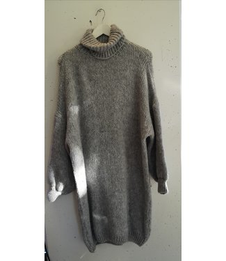 Dress sweater knitted col, Grey