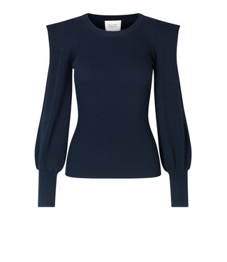 Second female Longsleeve Lucile knit O-neck, Outer space