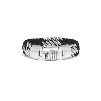 Buddha to Buddha Ben Mix Silver Leather Armband