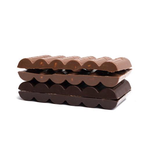 Tablet 'melkchocolade & hazelnoten uit Piëmonte'