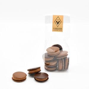'Galetjes' melk- en pure chocolade 100 gr