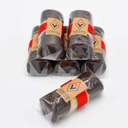 Marsepein bûche met pure chocolade 100 gr