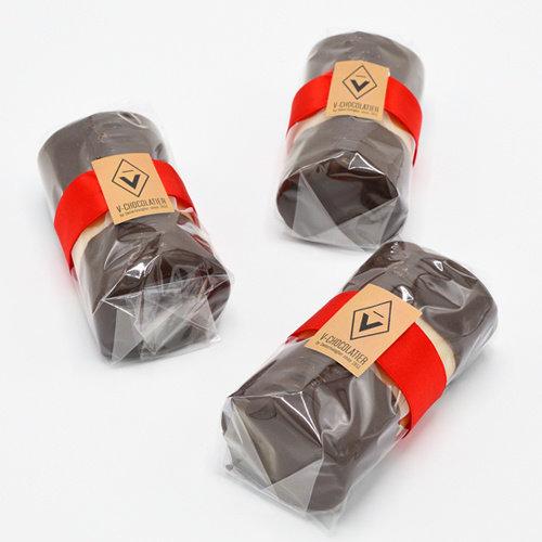 Marsepein bûche pure chocolade 250 gr