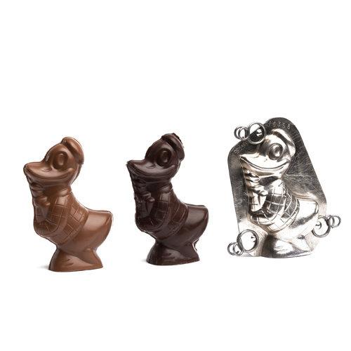 Melk- en pure chocolade holfiguren 500 gr