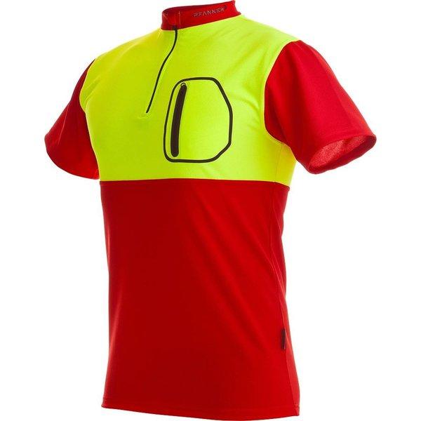 Pfanner Zipp-Neck Shirt Neon kurzarm