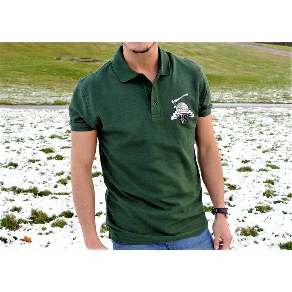 Kiefernrausch Poloshirt dunkelgrün für Naturburschen