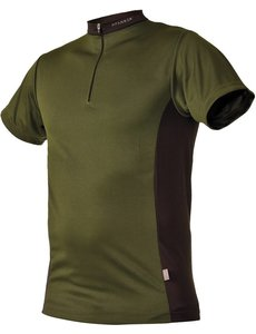 Pfanner Zipp-Neck Shirt Waldgrün