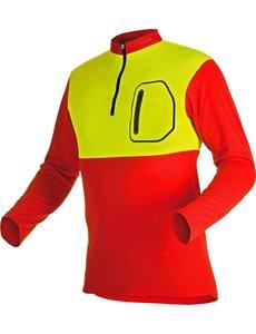Pfanner Zipp-Neck Shirt Neon langarm