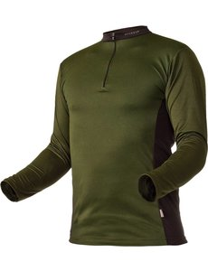Pfanner Zipp-Neck Shirt Waldgrün langarm