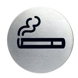 Wel roken bordje RVS zelfklevend
