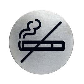 Roken verboden bordje RVS Design zelfklevend