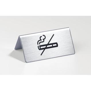Rookverbod bordje RVS Baliemodel  Niet meer leverbaar !