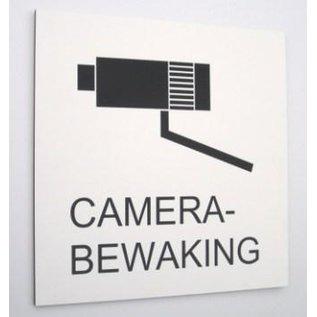 Camerabewaking bord 25 x 25 cm zwart wit