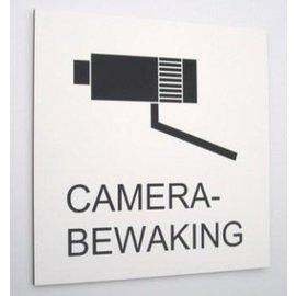 Camerabewaking bord 50 x 50 cm zwart wit