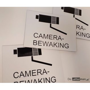 Camerabewaking bord 15 x 20 cm zwart wit