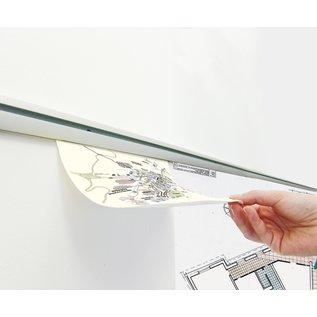 Ophangprofiel voor werkbon en tekeningen 100 cm klemrail