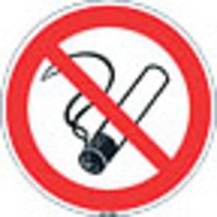 Niet roken sticker 10 cm 5 stuks verpakking