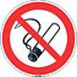 Niet roken sticker 20 cm 5 stuks verpakking