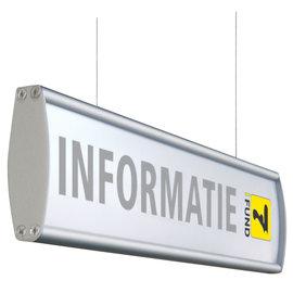 Hangbord Profiel P 60 cm met tekst of voor eigen print