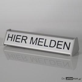 Baliebord Hier Melden 3.1x15 cm