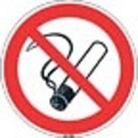 Niet roken bordje kunststof 10 cm 5 stuks