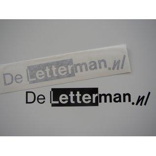 Uw logo als sticker 125 cm in 1 kleur Mat folie