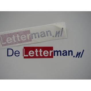 Uw logo als sticker 30 cm in 2 kleuren Mat folie