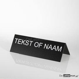 Naambordje tafelmodel 10x30 cm dubbel tekst