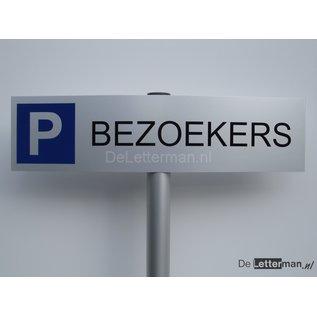 Parkeerbord Bezoekers op paal