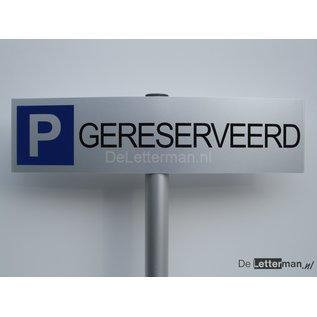 Parkeerbord Gereserveerd op paal