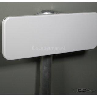 Parkeerbord tekstbord metaal 40x15 cm. Compleet als set.