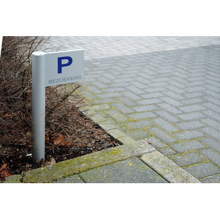 Parkeerbord paal 25x25 cm