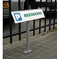 Parkeerbord met tekst XL formaat aluminium profiel hoger model 13.4x50 cm paneel
