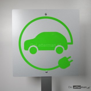 Opladen electrische auto bord op paal