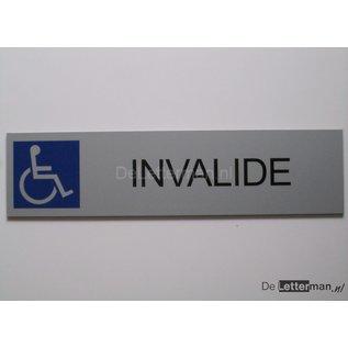 Parkeerbord Invalide wandbord